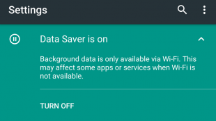 Android N Preview Data Saver