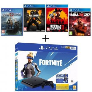 ps4 500 go noire god of war call of duty black ops red dead redemption 2 nba 2k20