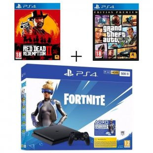 pack playstation ps4 slim 500 go noire grand t