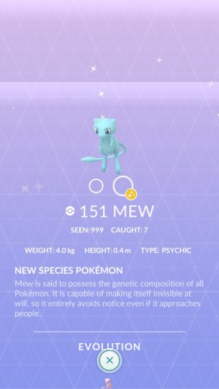Pokémon GO Études screen 5 Mew Chromatique