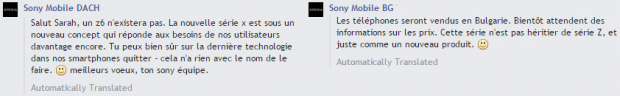 Sony Mobile facebook Xperia Z X