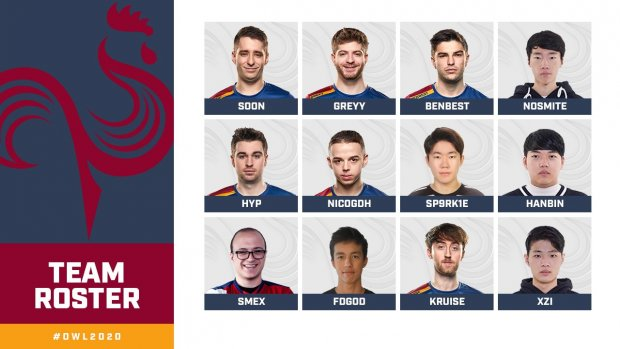 Paris Eternal OWL Overwatch League 2020 Roster Equipe Team