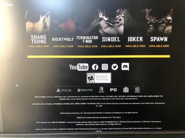 Mortal Kombat 11 Ash Evil Dead publicité