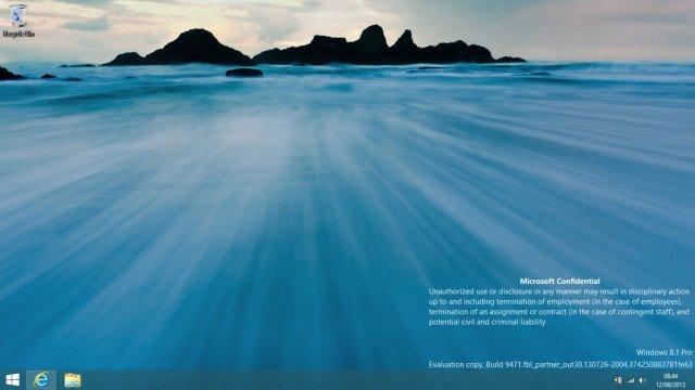 Windows 8.1 beta fuite