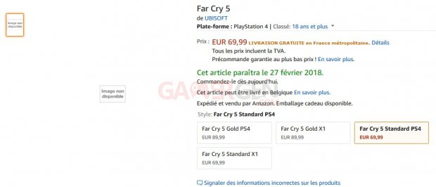 far cry 5 leak fuite amazon