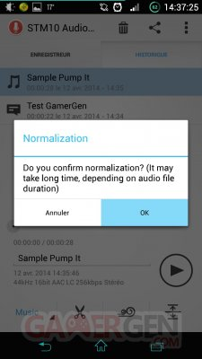 Sony-Audio-Recorder-liste-normalisation