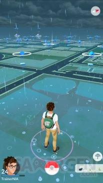 Pokémon GO météo dynamique pluie