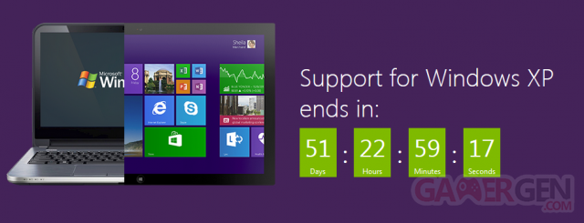 Adieu Windows Xp, tu va nous manquer