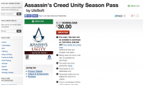 Assassin s creed unity season pass Xbox One