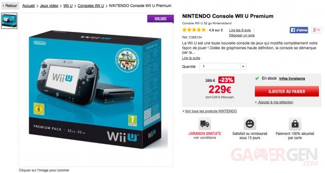 Auchan offre promotion Wii U 229 euros