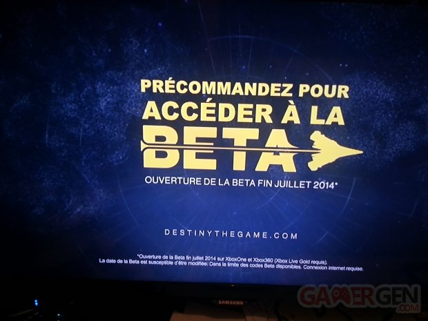 beta xbox destiny