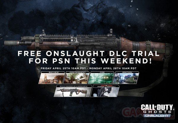 Call of Duty Onslaught trial version PS3 PS4