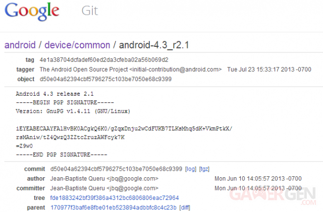 Code source Android 4.3