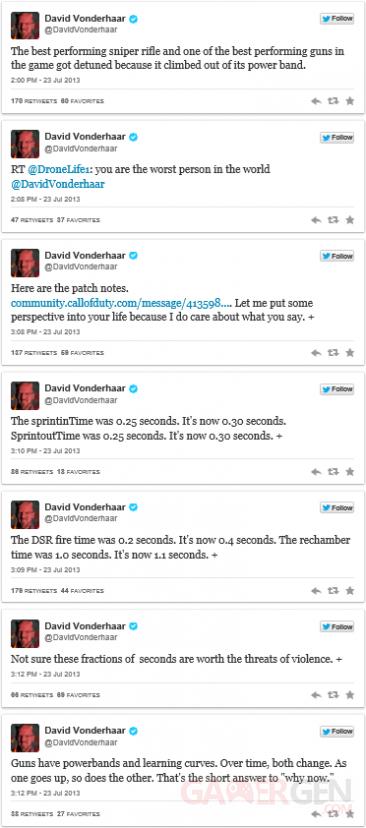 David Vonderhaar twitter reponse menace call of duty black ops 2