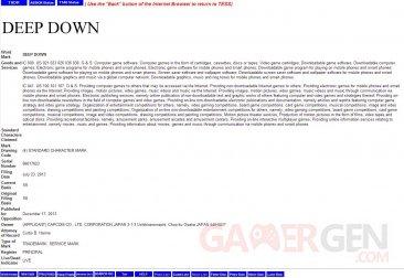 Deep Down Trademark