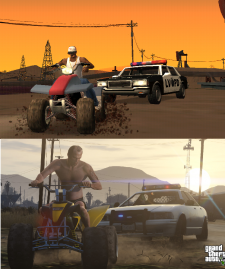 GTA V comparaison San Andreas images 06