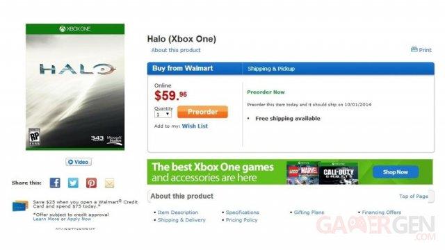 Halo 5 date sortie walmart