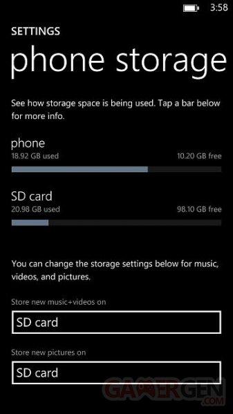 Lumia 1520 128GB Sandisk Card