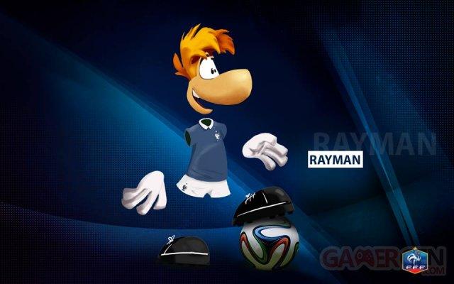 Mascotte Rayman Equipe de France