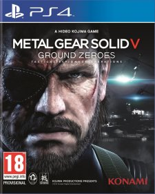 metal gear solid ground zero PS4 jaquette PEGI