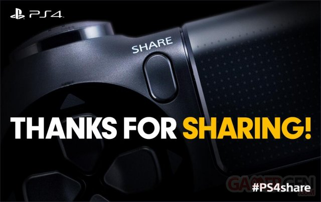 PlayStation 4 PS4 bouton share 11.03.2014