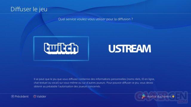 PS4 Tuto Ustream Twitch HD diffusion 30.04.2014  (4)