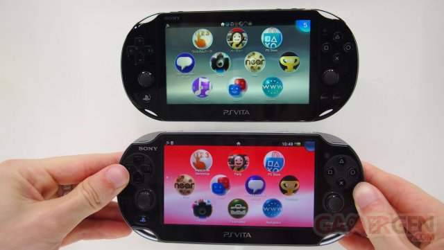 PSVita PlayStation New comparaison 1000 et 2000 slim normal Sony Japan Event 09.09.2013 (9)