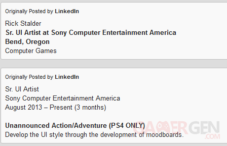 sony-bend-linkedin-profile-rick-stalder-exclusive-ps4-title