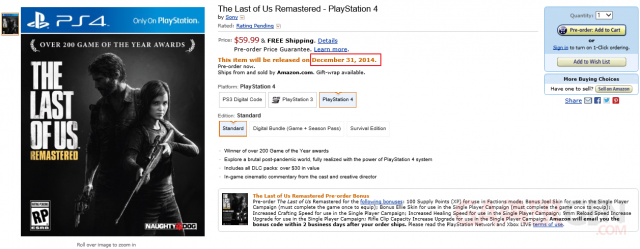 The last of us Amazon report ps4