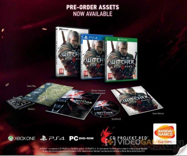 The Witcher 3 Traque Sauvage bonus pre?commande