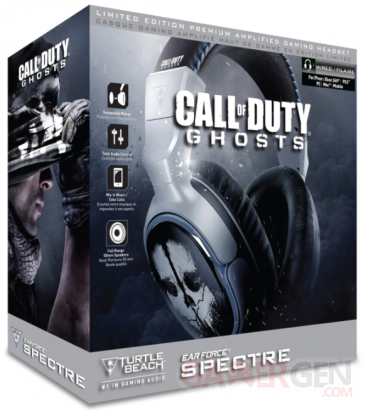 turtle beach call of duty ghosts casque spectre bundle
