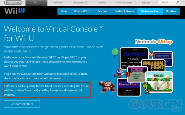 Wii U Console Virtuelle Nintendo 64