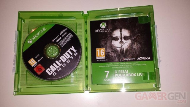 Xbox One Call of Duty Ghosts boite