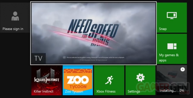 xbox one dashboard installation