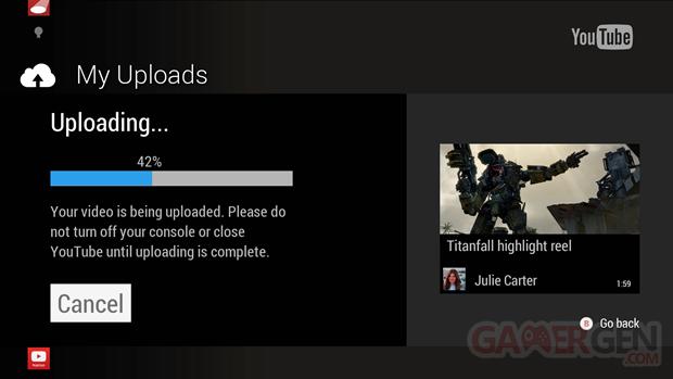 Xbox One upload YouTube